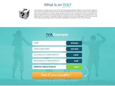 IVA Expert Landing Page Design