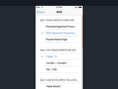 Quiz Mobile APP