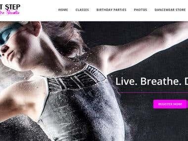 New web design for dance school