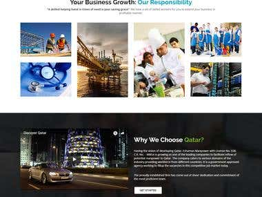 Manpower Company Professional Website