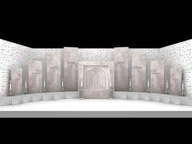 3D Sets for TV Channel (ARY Digital Network) (Pakistan)