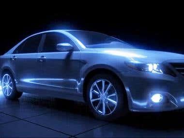 Toyota Camry 3D Cinema Advertising