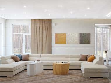 Дизайн интерьера загородного дома1