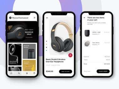 Instrument Sales app