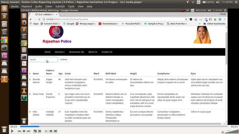 Online Crime Reporting System | Freelancer