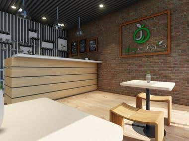 Coffee Shop Design and Rendering