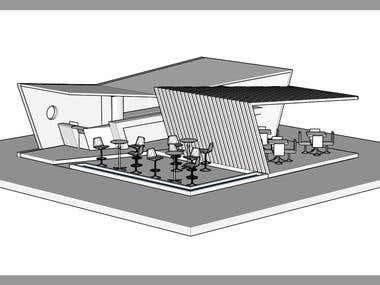 3D Campus Coffe Shop - Google SketchUp