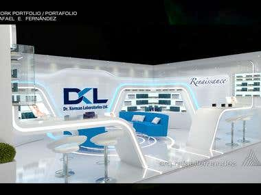 COSMETIC STAND DESIGN IN EXPO.