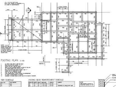 Structural drafting by using AutoCAD