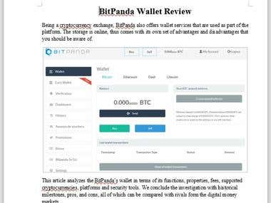 Bit Panda Wallet Review