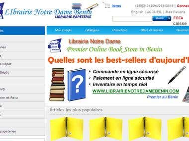 Librairie Notra Dame Benin E-Commerce and Inventory Mgmt