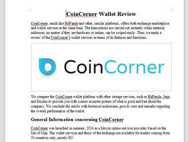 CoinCorner Wallet Review