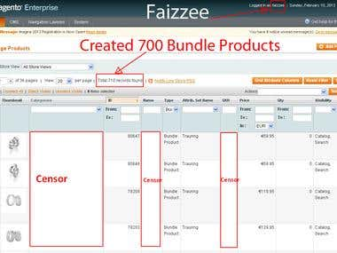 700 Bundle Products - Created and Managing