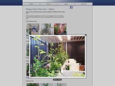 Indoor Plant Hire web site