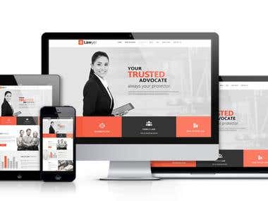 Lawyer PSD Template Design