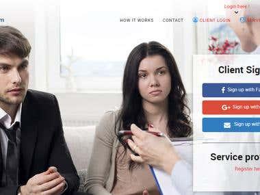 Advisory consulting website