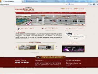 Kashyap Marriage Hall Website (CMS Application)