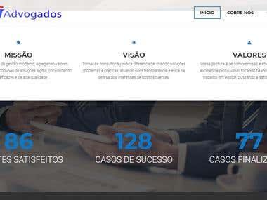 Site de advogados associados
