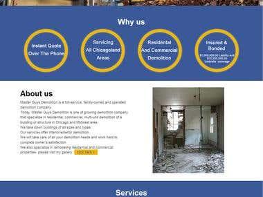 Website of Master Guys Demolition