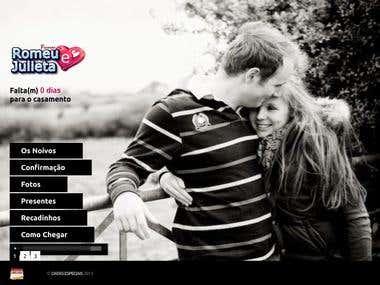 Site (exemplo) de página para divulgação de casamento