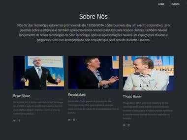 Site (exemplo) de página para divulgação de evento