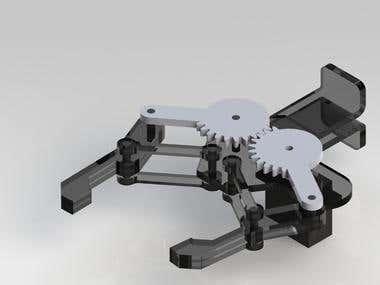 Robotic Arm Design in Solidworks