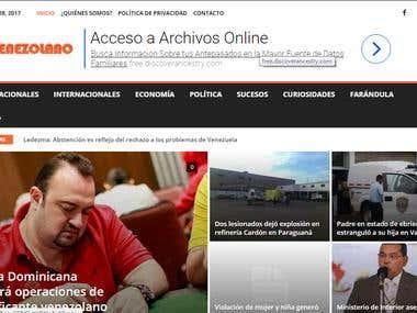Sitio Web de Noticias realizado en WordPress