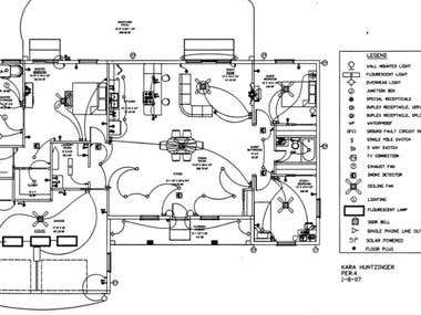 Electrical drafting project