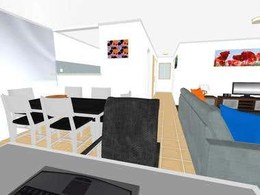 Realistic interior design for Fiji client