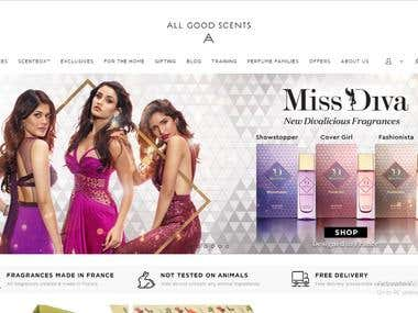 It's E-Commerce Perfume and Candle Site