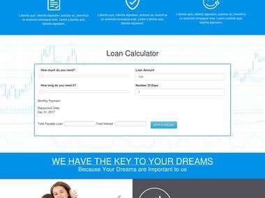 Load website on WordPress based