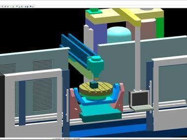CNC milling simulation