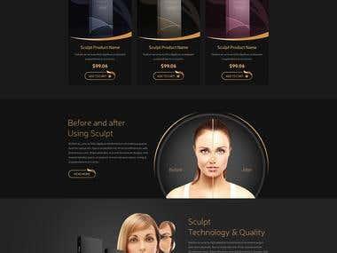 Homepage Design For Sculpt Dermal Filler