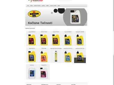 Online Store for Auto parts