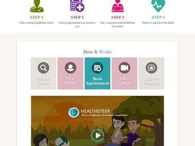 Healthsteer a healthcare consulting website