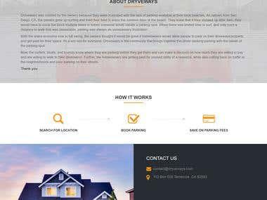 Dryveway a parking website.