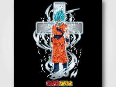 Dragon Ball Jesus T-Shirt Design