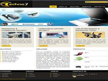 Techno7 Security Product Website (CMS Application)