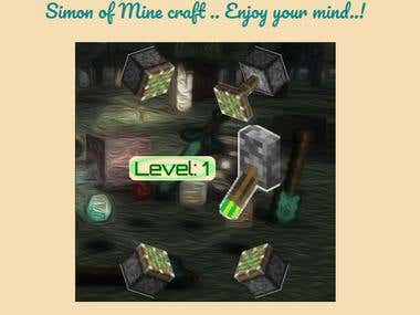 Simon game in Minecraft style