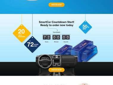 Homepage Design For Smart Car