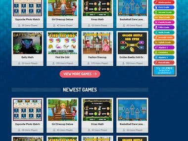 Homepage Design For MathNook
