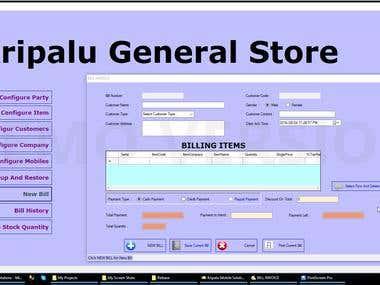 Desktop Application - General Store Billing App