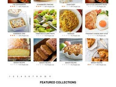 Recipes website php based