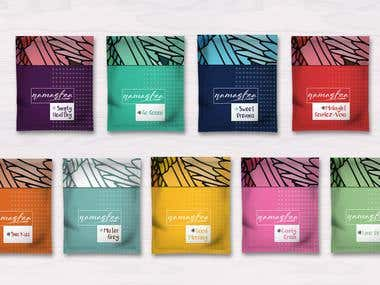 Several Tea Packaging Design Concepts for client