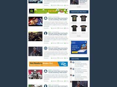 Homepage Design For Superstargeeks
