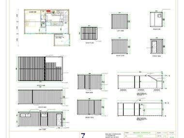 Container Elevation & Sections