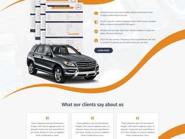 Homepage Design For AutoSafe