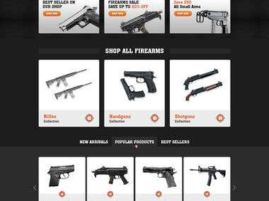 Homepage Design For Carryon Firearms & Gunsmithing