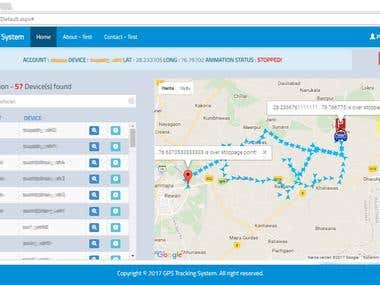 Web based GPS Tracking System