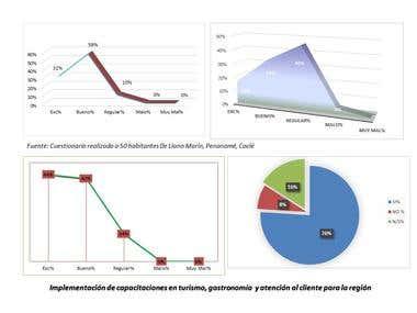 Gráficos en Excel (Estudio de Mercando.)
